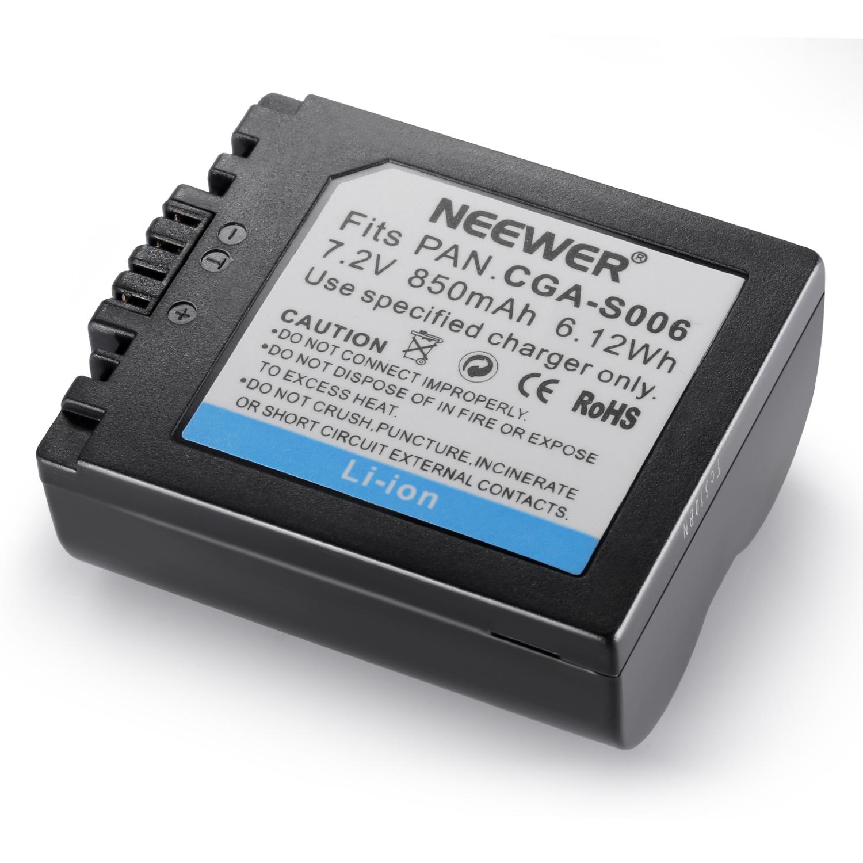 2x replacement li ion battery cga s006e battery for - Batterie panasonic lumix dmc fz18 ...