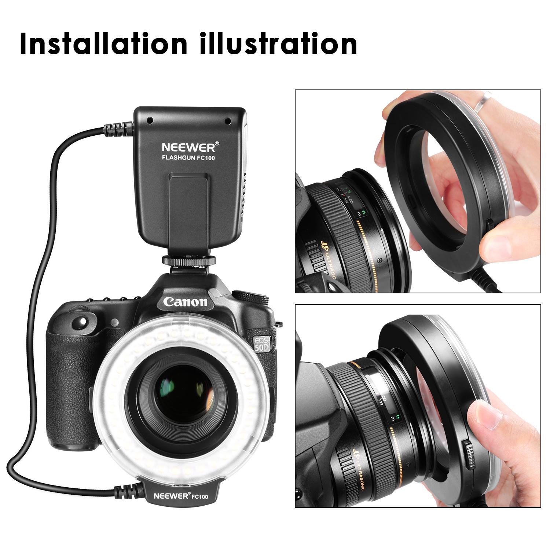 led macro ring flash fc100 for canon 1d 5d 7d mark ii nikon d5000 camera ud 15 ebay. Black Bedroom Furniture Sets. Home Design Ideas