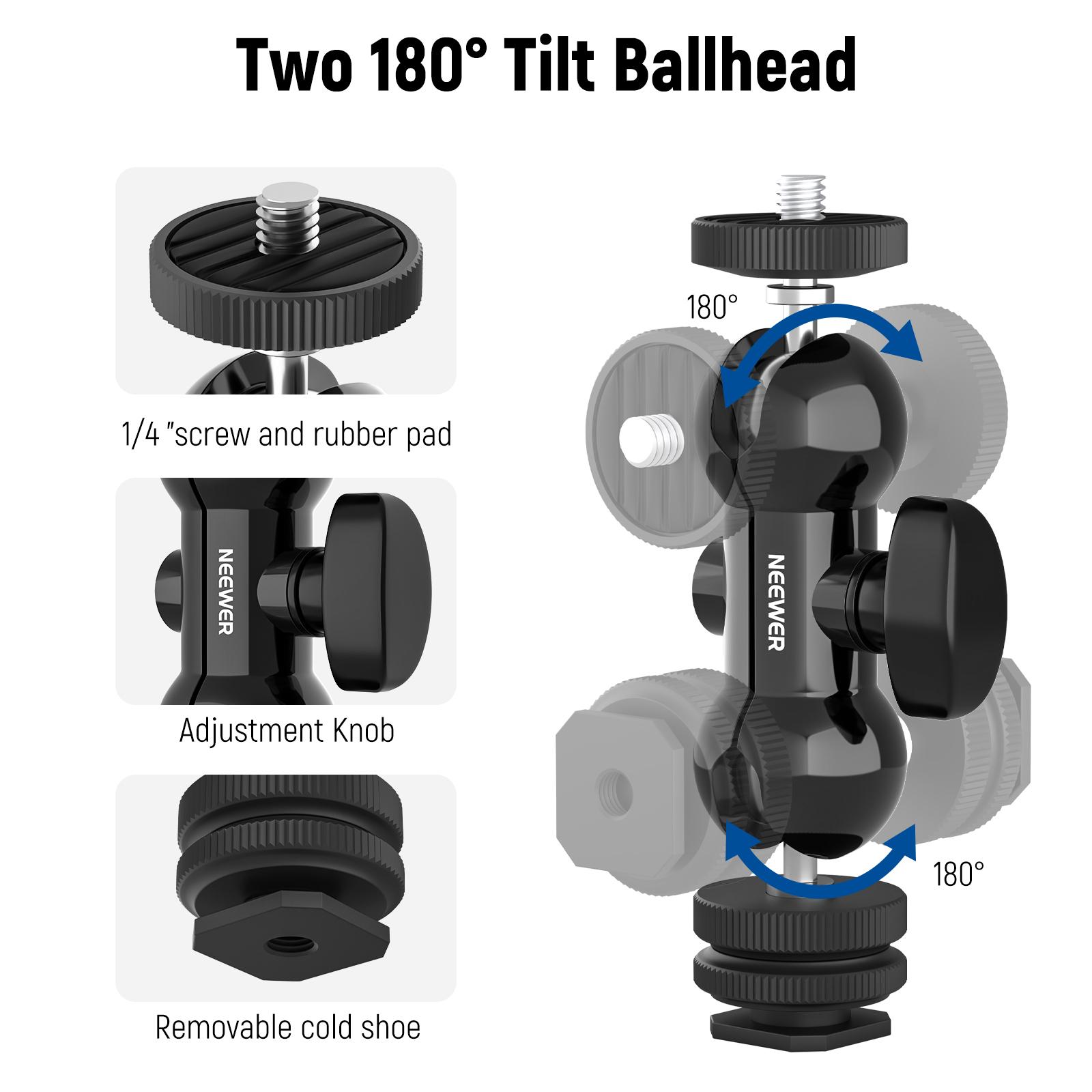 Light Stand Organizer: Universal Flash Shoe Holder Swivel Light Mount Stand