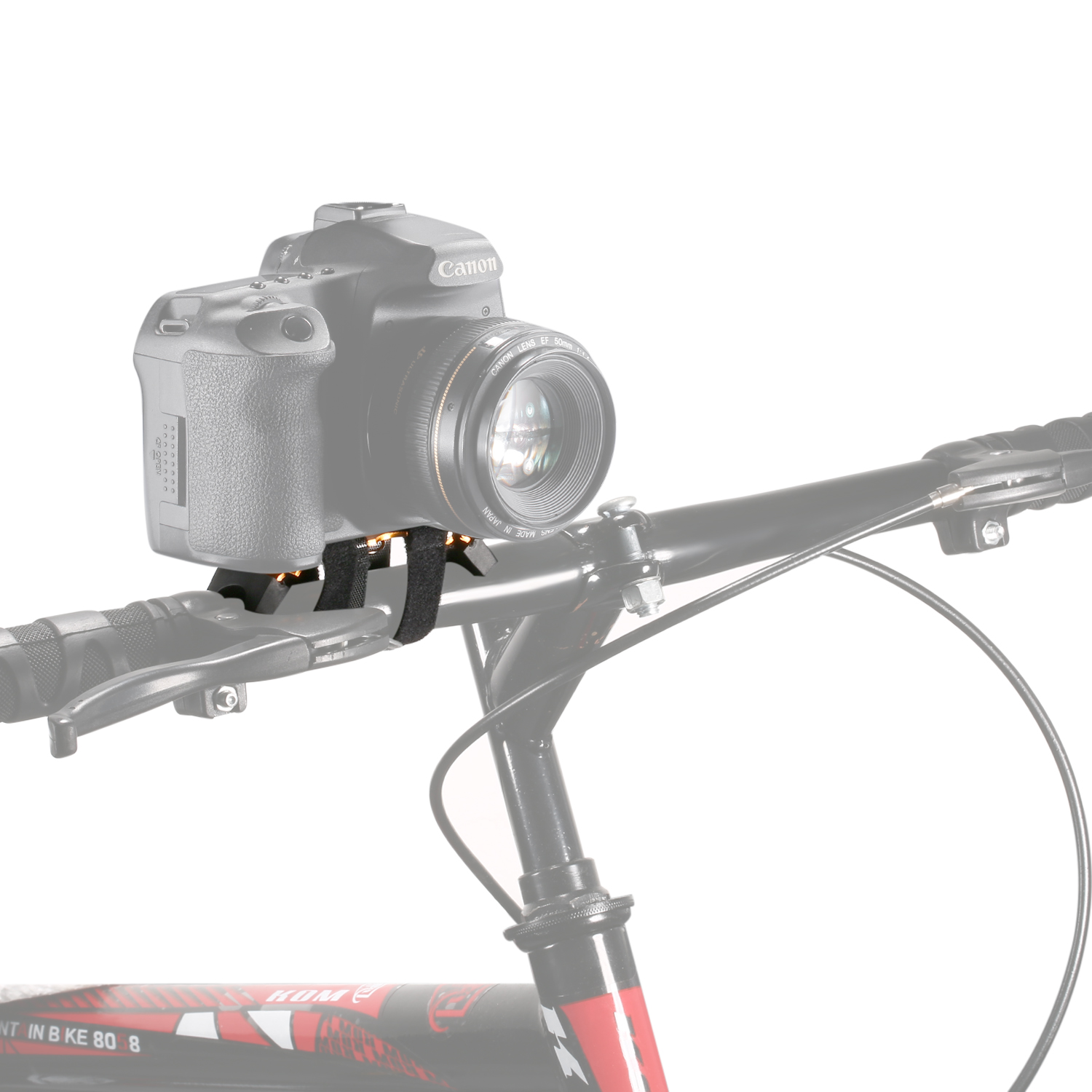 Camera bracket mount on motor bicycle bike for small dslr for Motorized video camera mount