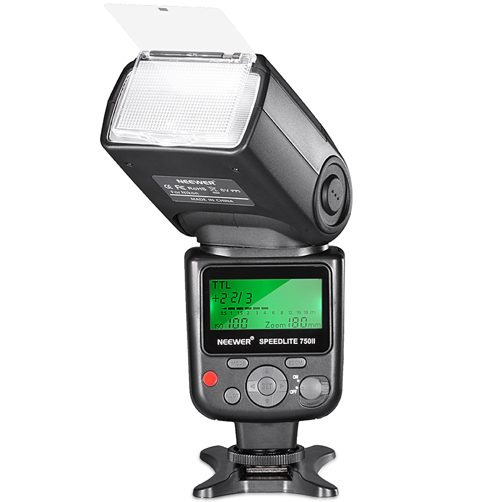 Neewer 750II TTL Flash Speedlite with LCD Display for Nikon D7200 D7100 D7000 D5500 D5300 D5200 D5100 D5000 D3300 D3200 D3100 D3000 D700 D600 D500 D90 D80 D70 D60 D50 and Other Nikon DSLR Cameras Image