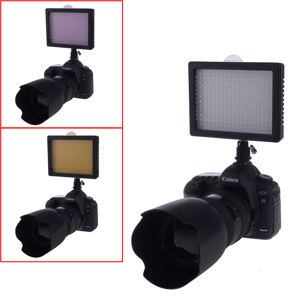 216LED VIDEO LIGHT panel for Camera + Li-Ion Battery for Sony + wall/car Charger eBay