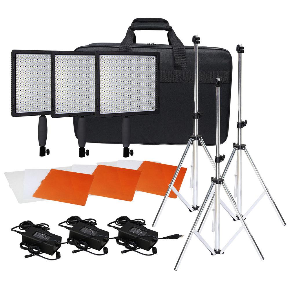 Studio Lighting Kit Argos: Neewer 3* CN-576 LED Video Studio Light Kit