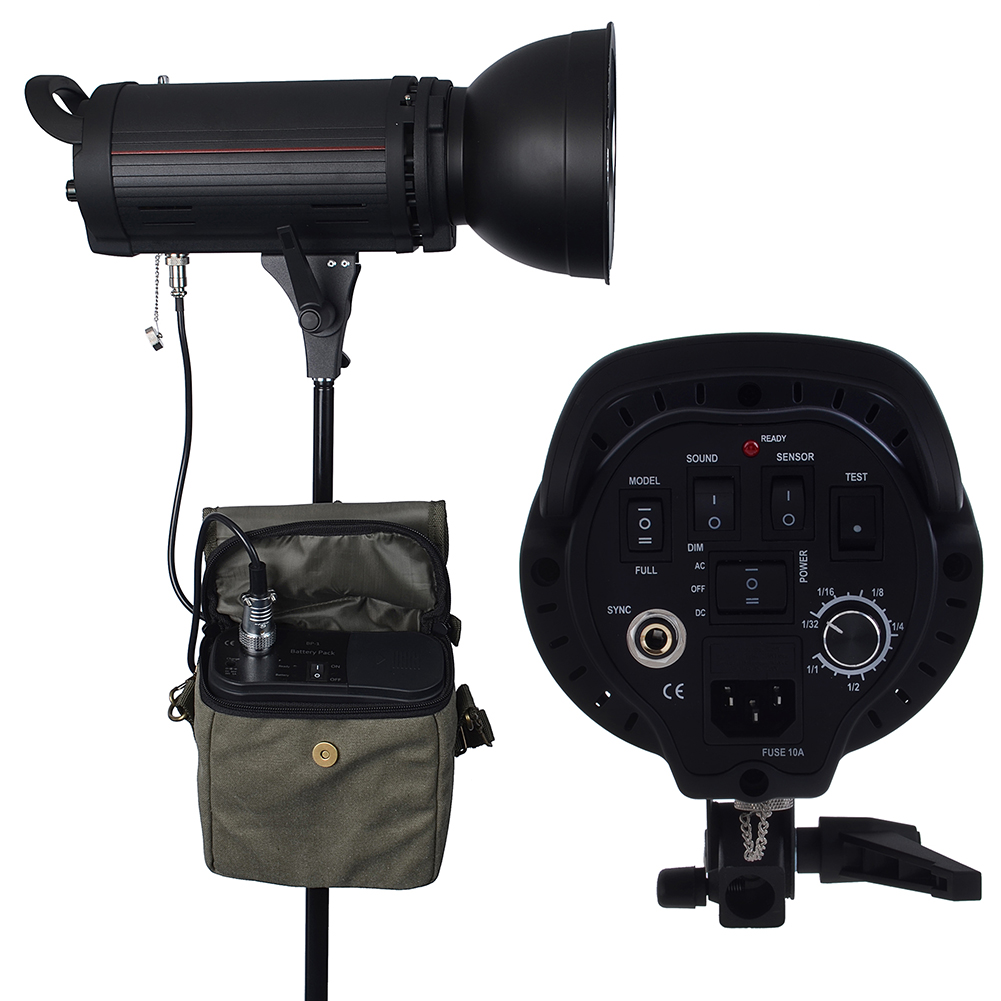 300ad strobe dual power ac dc 110v monolight flash with. Black Bedroom Furniture Sets. Home Design Ideas