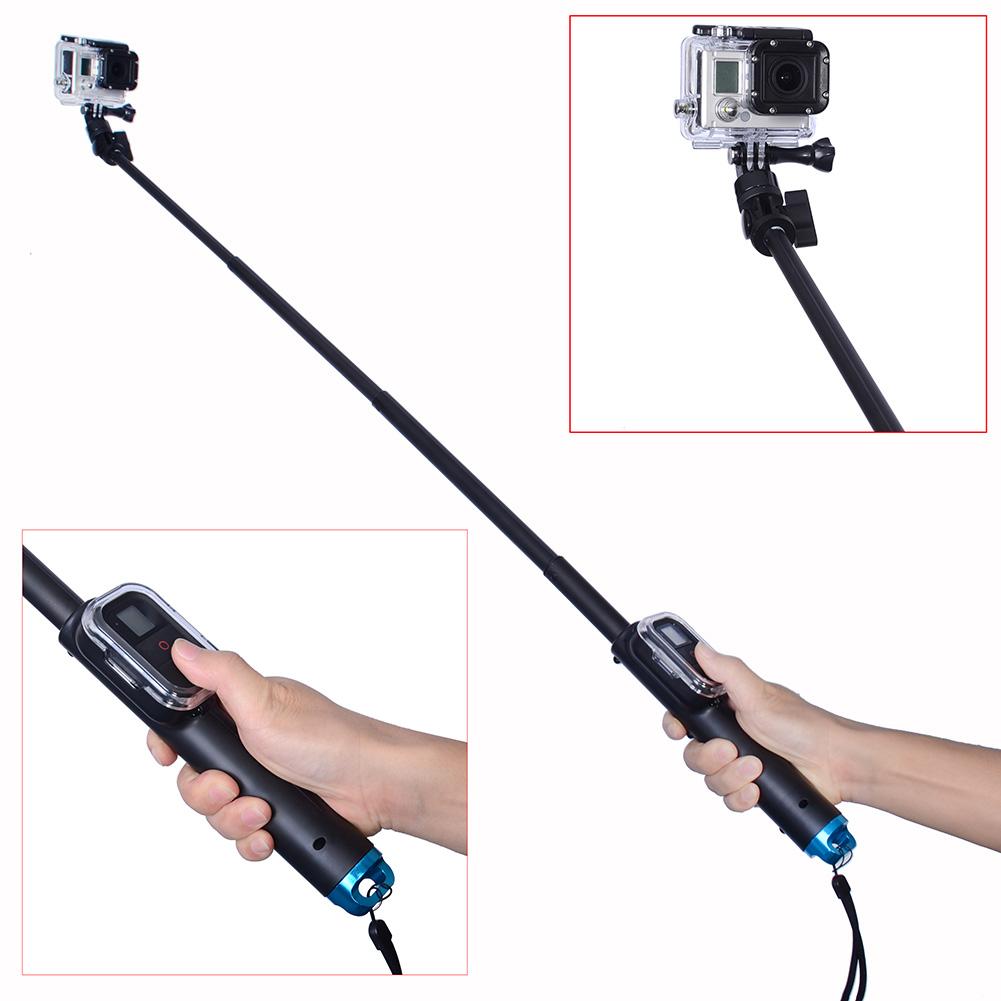 waterproof handheld extendable selfie extension stick pole monopod for gopro ebay. Black Bedroom Furniture Sets. Home Design Ideas