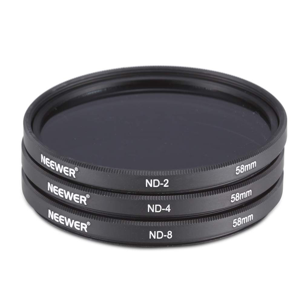 Microfiber Cloth Examples: 58MM Neutral Density Filter Set (ND2 ND4 ND8) + Microfiber