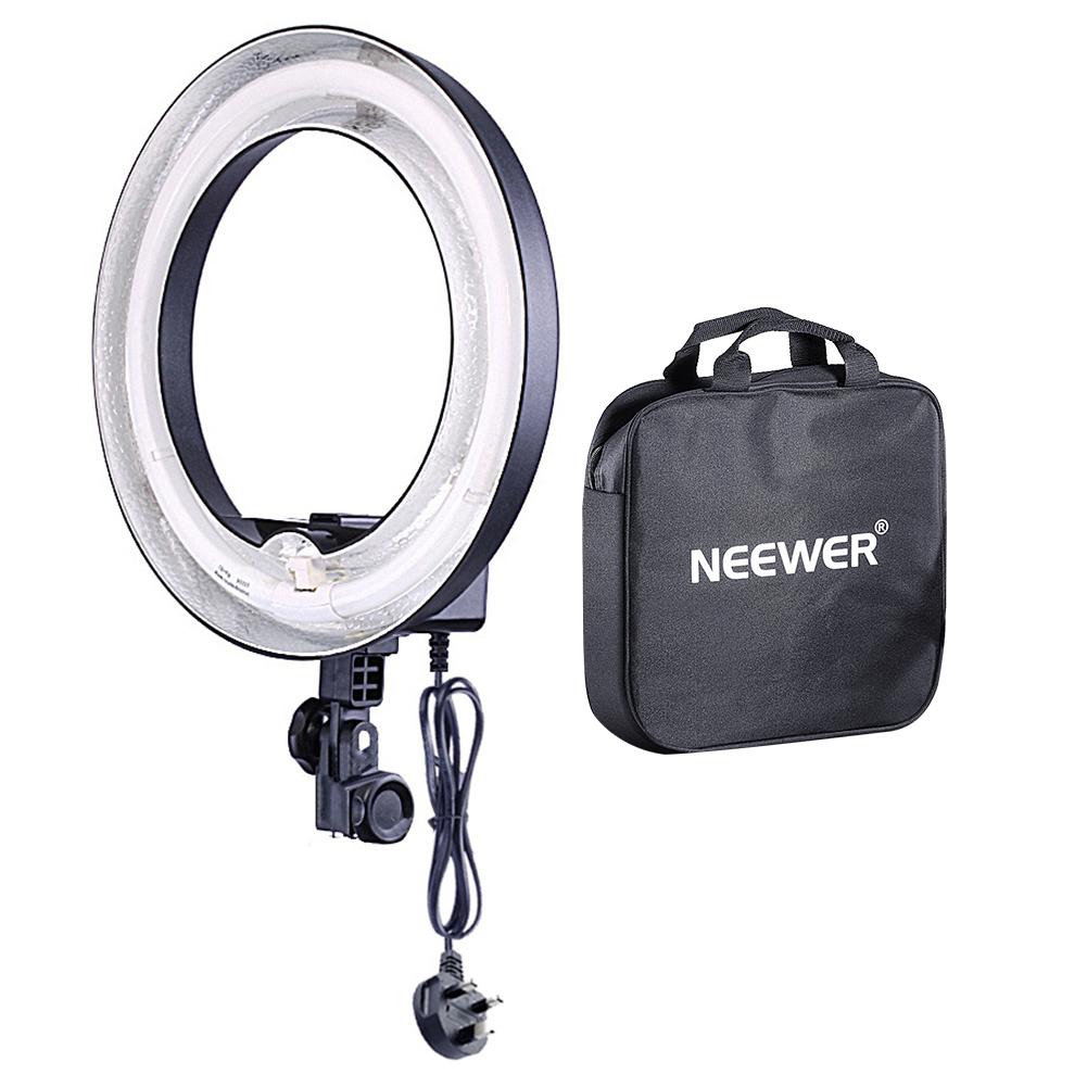 neewer light stand 400w 5500k fluorescent undimmable ring flash light ebay. Black Bedroom Furniture Sets. Home Design Ideas