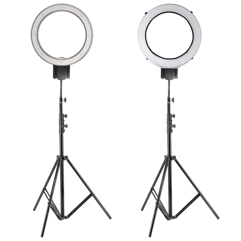 Ring Light Stand Ireland: NEEWER CN-R640 Dimmable RING LED LIGHT (US Plug) + 260CM