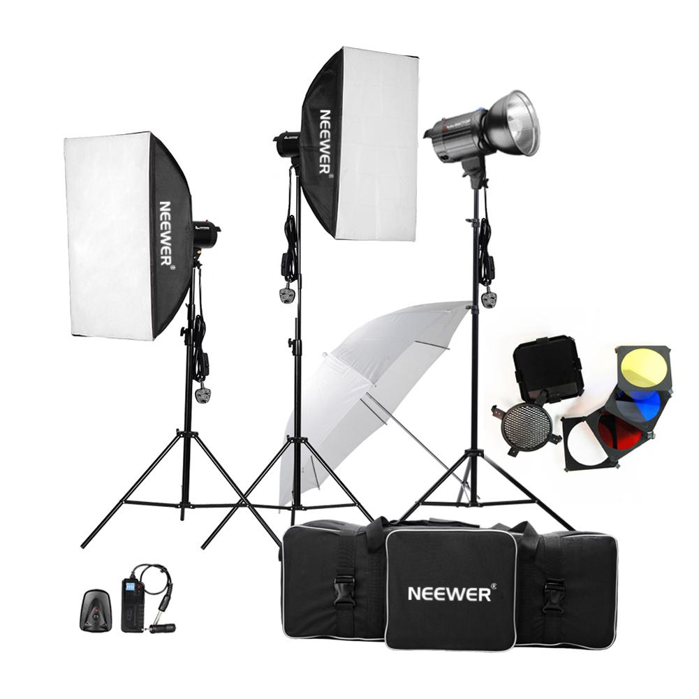 540w Flash Kit Photography Lighting Studio Strobe Light: Neewer (300W X3) Studio Flash Strobe Lighting Kit For
