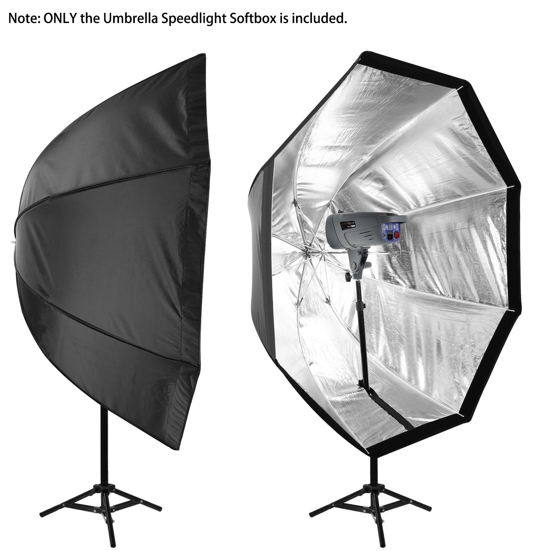 "Umbrella Like A Softbox: Neewer 31""/80cm Octagon Umbrella Type Speedlite Softbox"