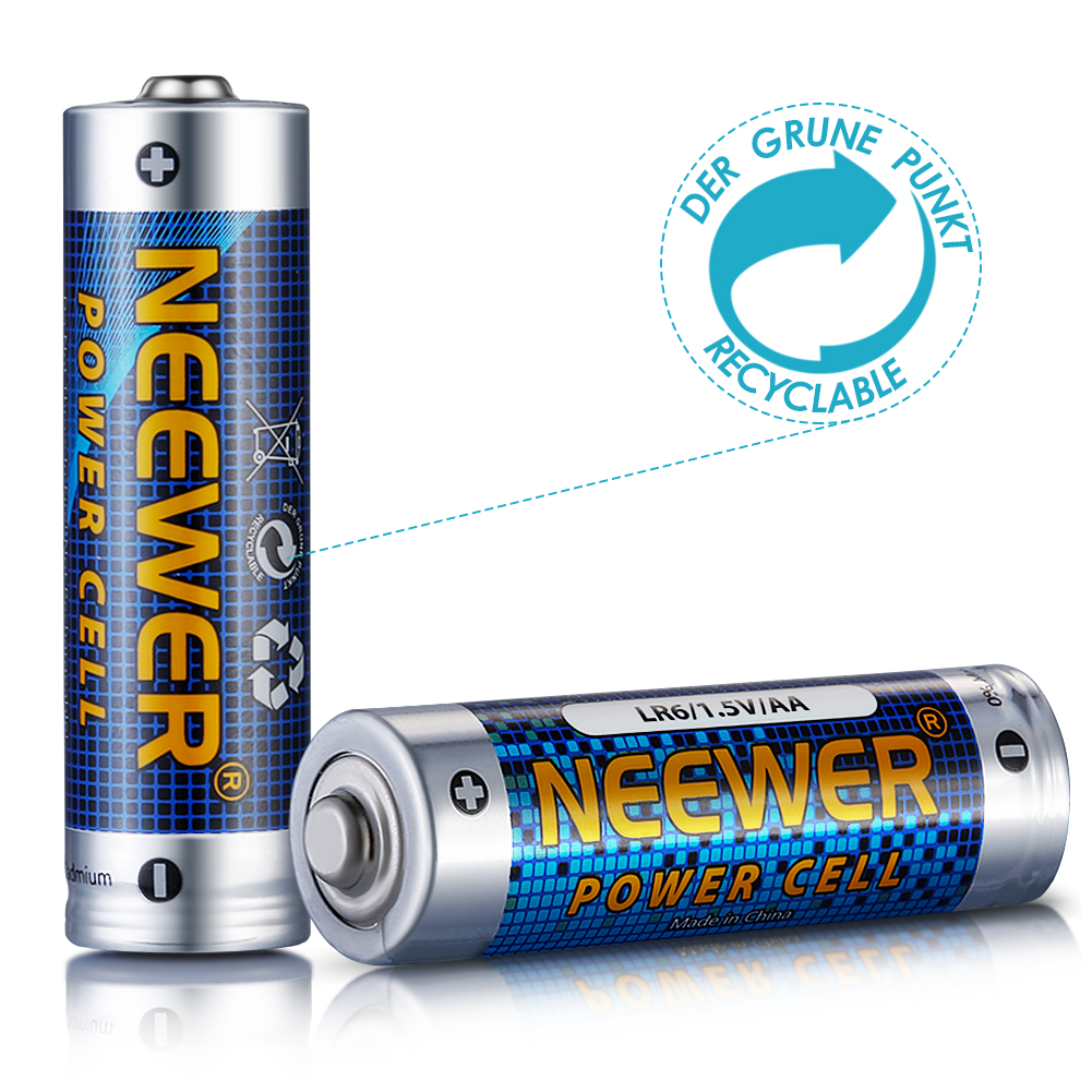 neewer 6 pack count lr6 alkaline aa batteries 1 5v 2800mah long lasting power ebay. Black Bedroom Furniture Sets. Home Design Ideas