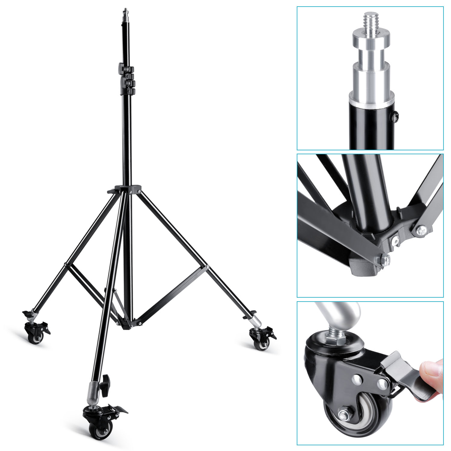 Neewer Photo Studio Light Stand W/ Caster Wheels F Video