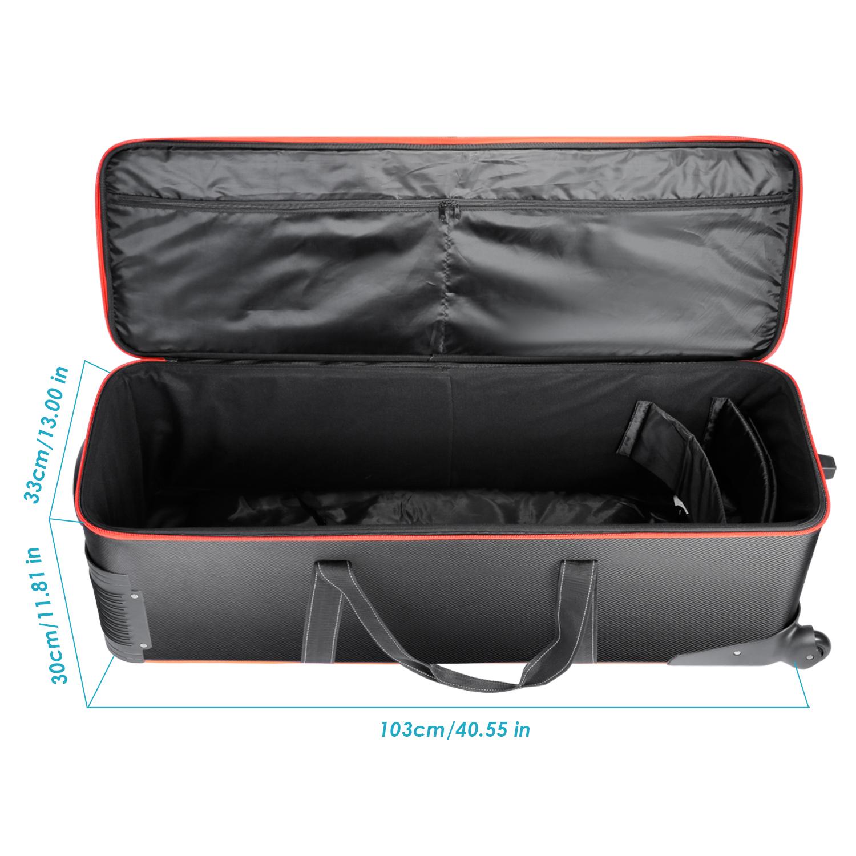 """Studio Lighting Carry Case: Neewer 41x13x12""""/103x33x30CM Photo Studio Equipment Roller"""