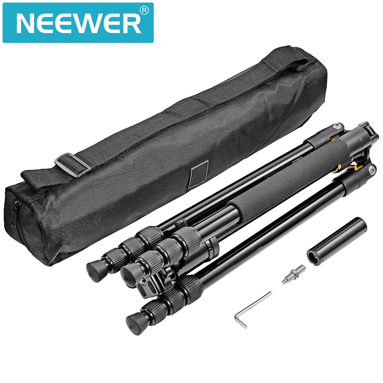 neewer portable 64inch 163cm aluminum alloy camera tripod monopod. Black Bedroom Furniture Sets. Home Design Ideas