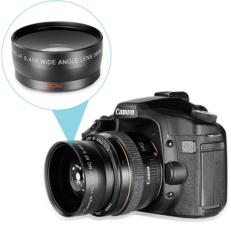 Pd 2.5x telephoto .45x wide-angle lenses