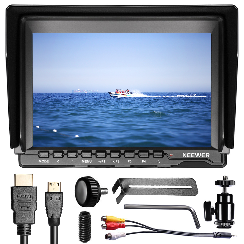 neewer 7 zoll 1280x800 ips bildschirm kamera monitor mit 2 batterien ladenger t ebay. Black Bedroom Furniture Sets. Home Design Ideas