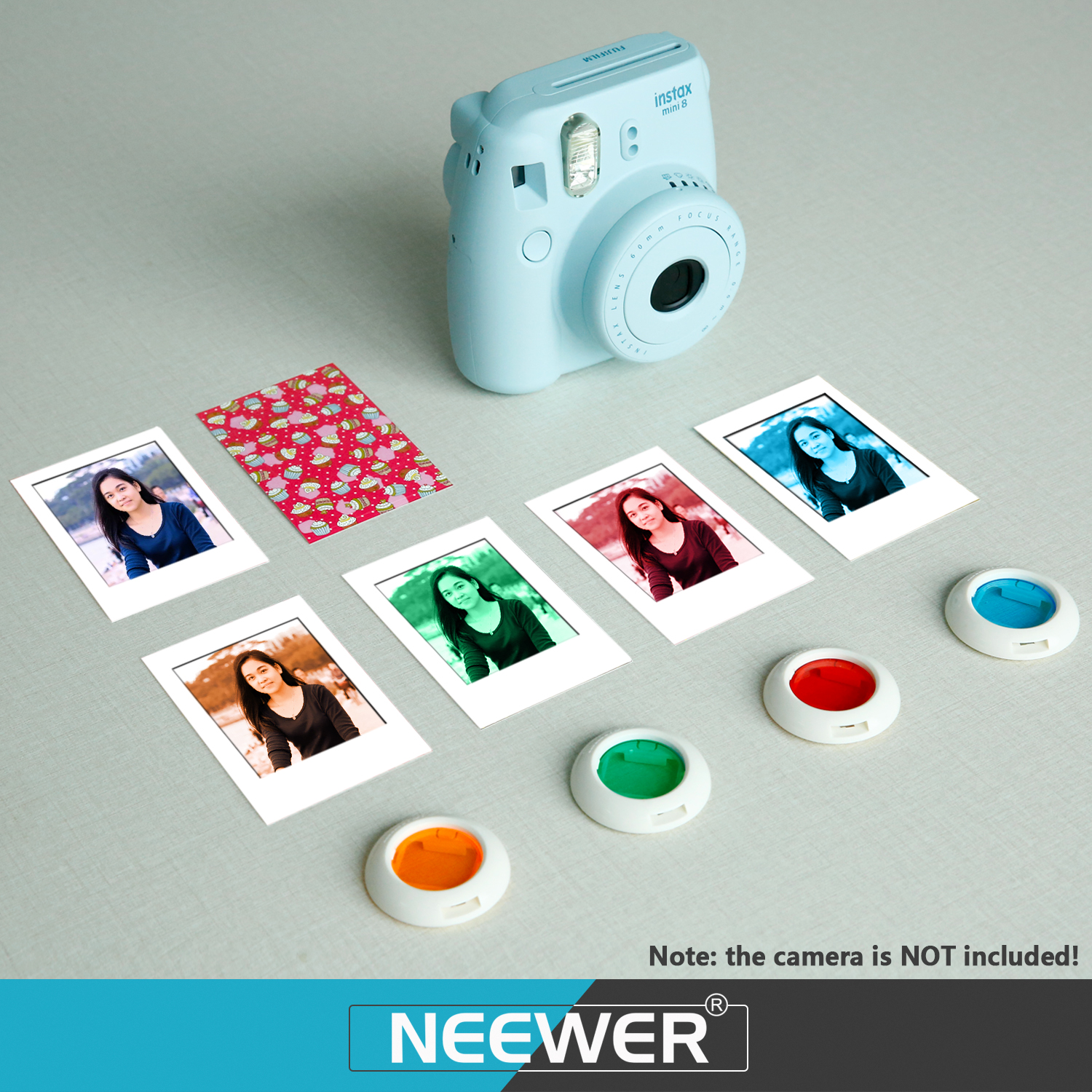 Neewer 10 in 1 camera accessories kit for fujifilm instax for Instax mini 8 housse