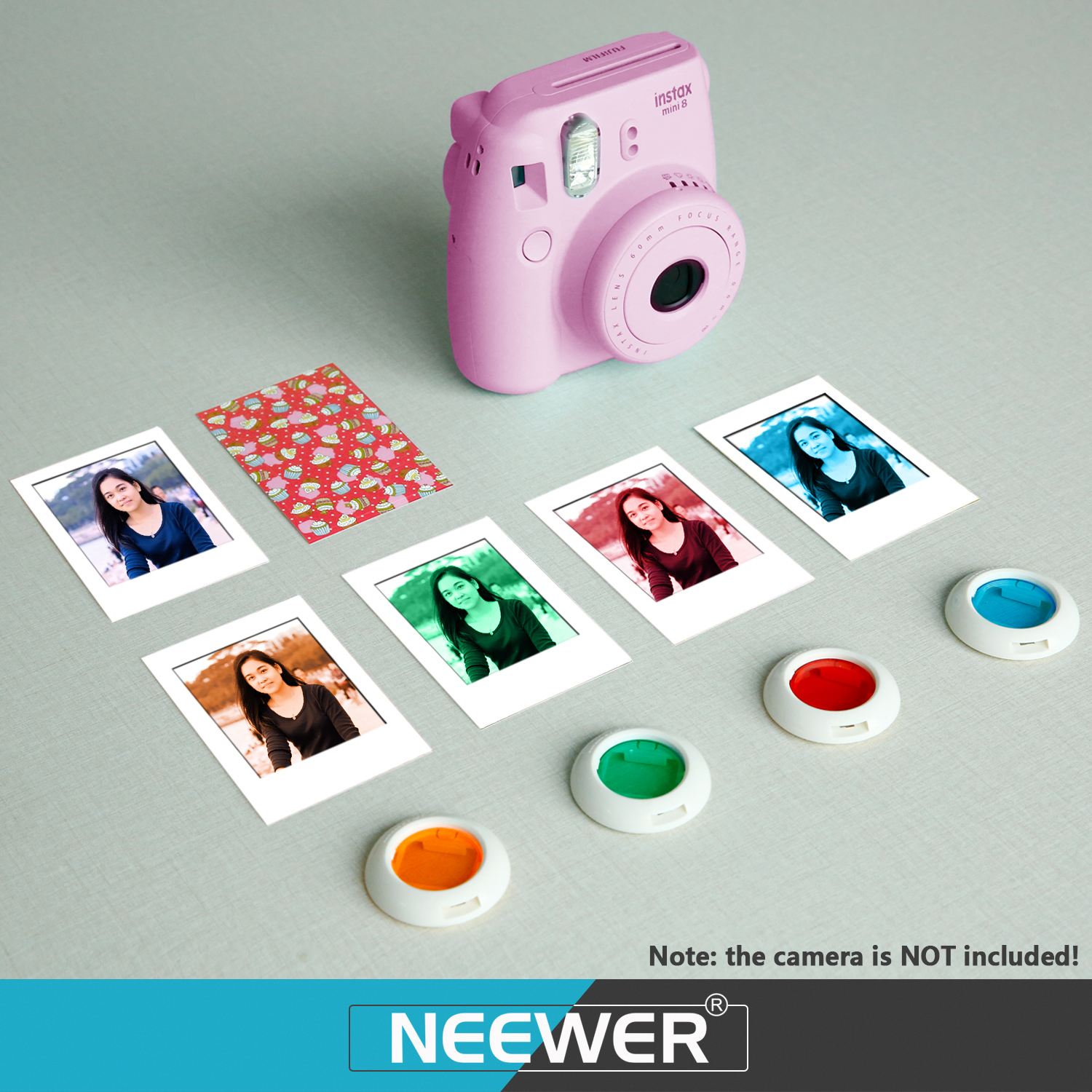 Neewer 9 in 1 camera bundles set for fujifilm instax mini for Housse instax mini 9