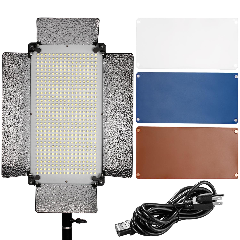 Studio Lighting Diffuser: Neewer 500 LED Photo Light Panel, Diffuser, 2 Color