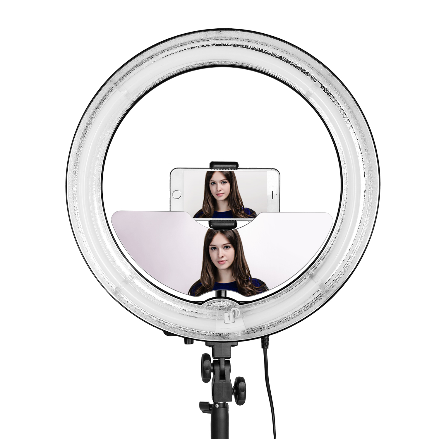 Neewer Ring Light Accessories Include Mirror, Smart Phone Holder And  Bluetooth Remote Control For Self Portrait And Makeup,patible With 18  Inches Ring