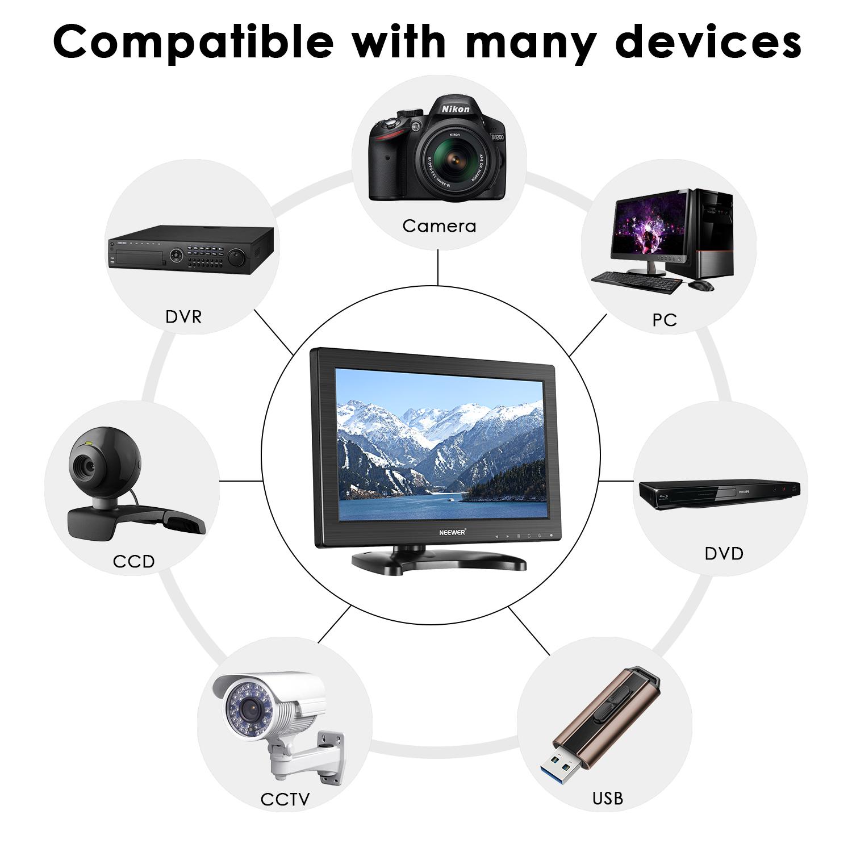 neewer 11 6 zoll 1080p hd monitor mit 16 9 tft lcd bildschirm 1366x768 aufl sung ebay. Black Bedroom Furniture Sets. Home Design Ideas