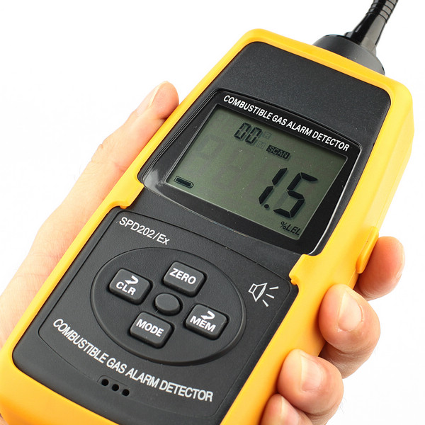 Natural Gas Well Meter : New pro spd ex digital combustible gas detector meter