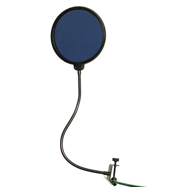 new studio microphone mic wind screen pop filter mask shied dark blue ebay. Black Bedroom Furniture Sets. Home Design Ideas
