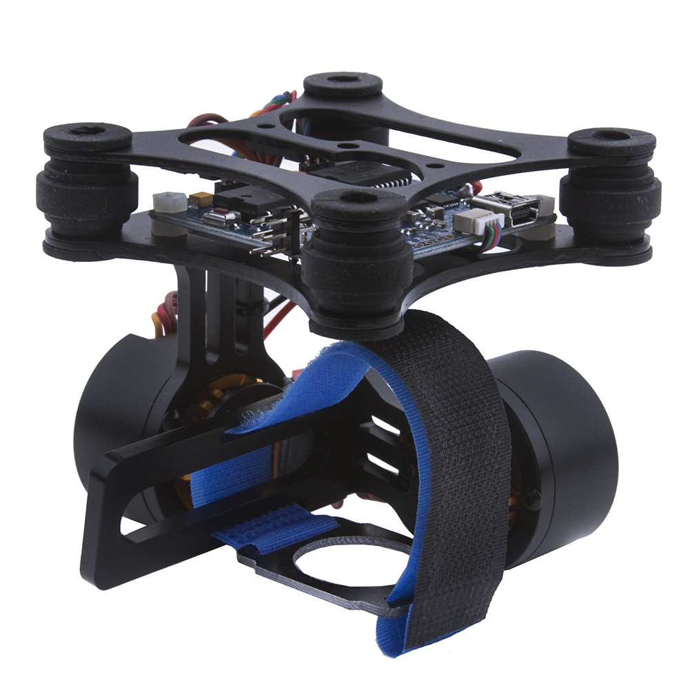 Black dji phantom brushless gimbal camera mount w motor for Motorized video camera mount