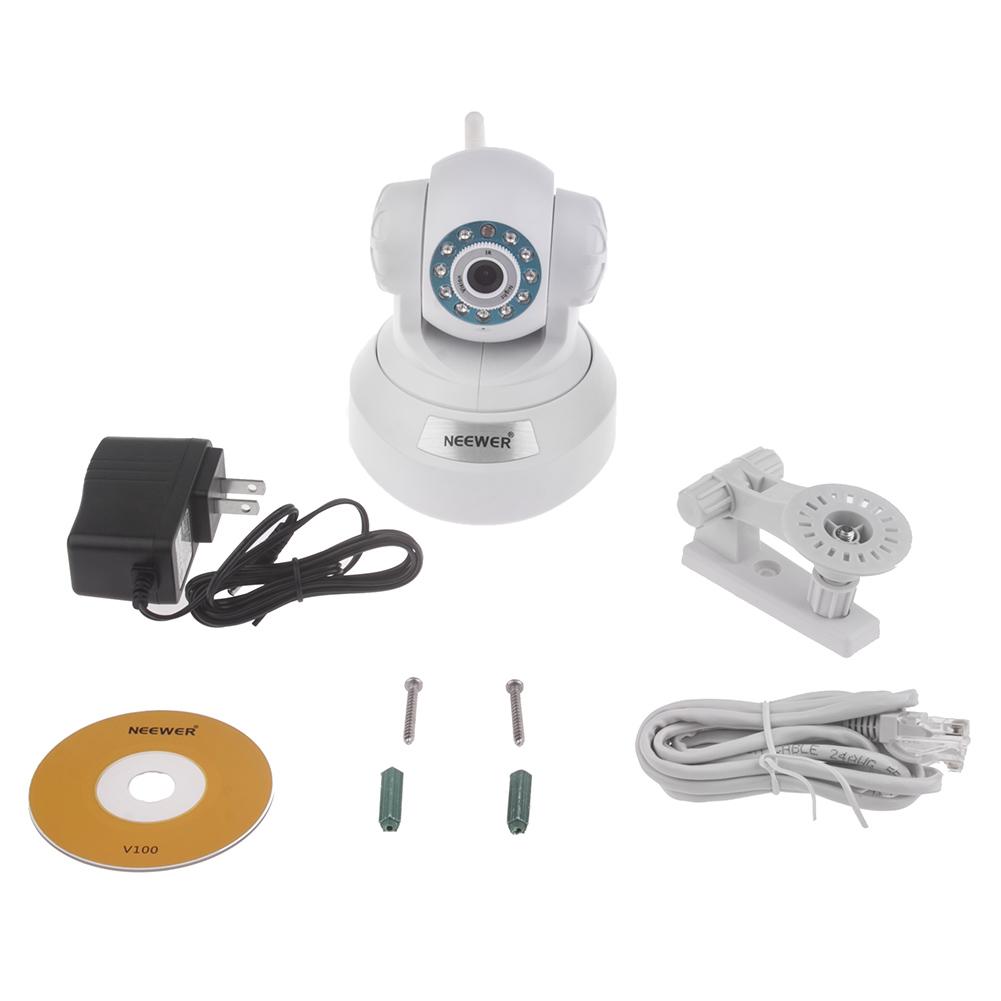 NEEWER Wireless WIFI Pan Tilt Audio Nightvison IP Camera ...