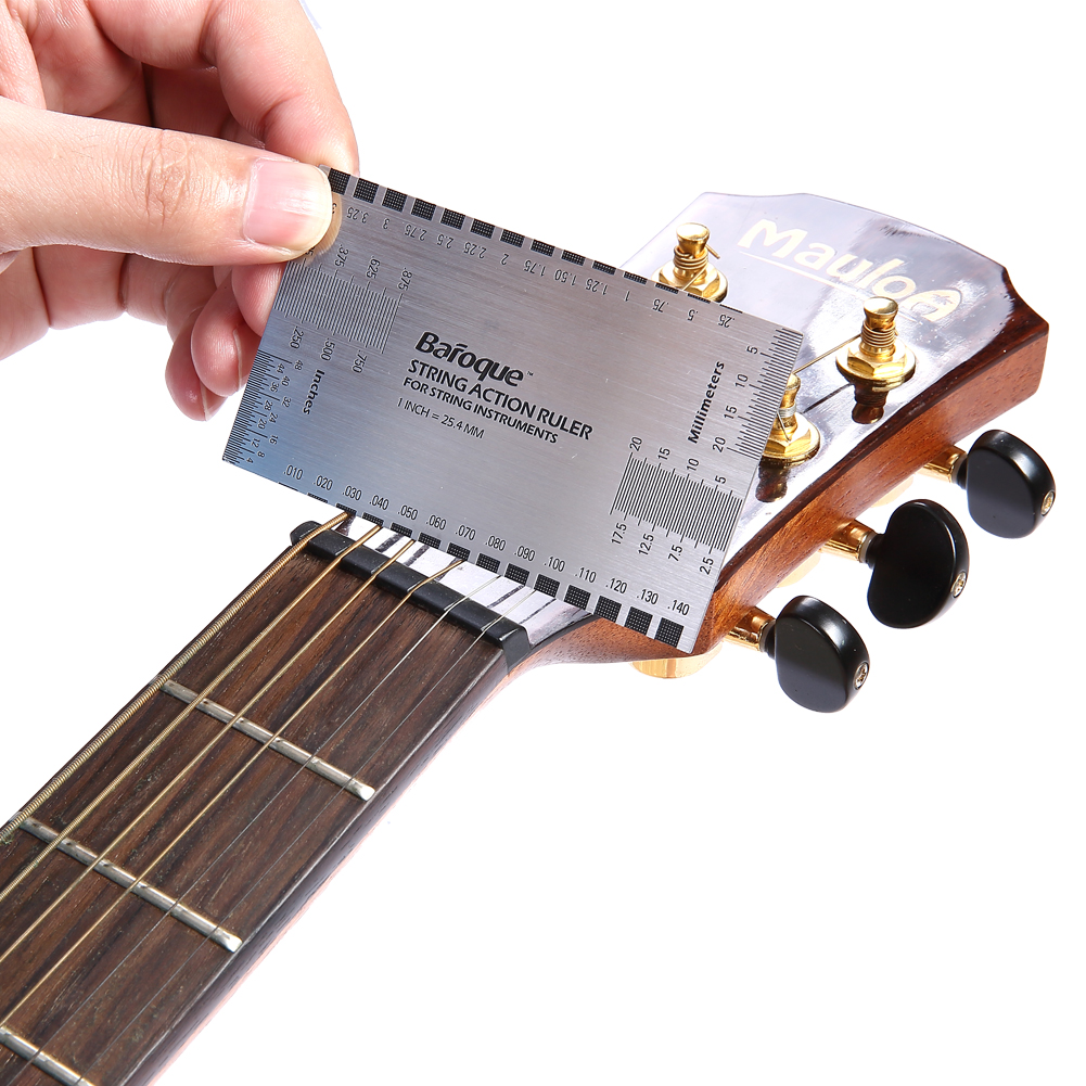 string action gauge ruler guide setup guitar measuring luthier tool ebay. Black Bedroom Furniture Sets. Home Design Ideas