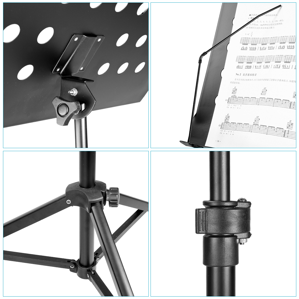 Neewer Deluxe Heavy-Duty Collapsible Orchestra Music Stand ...