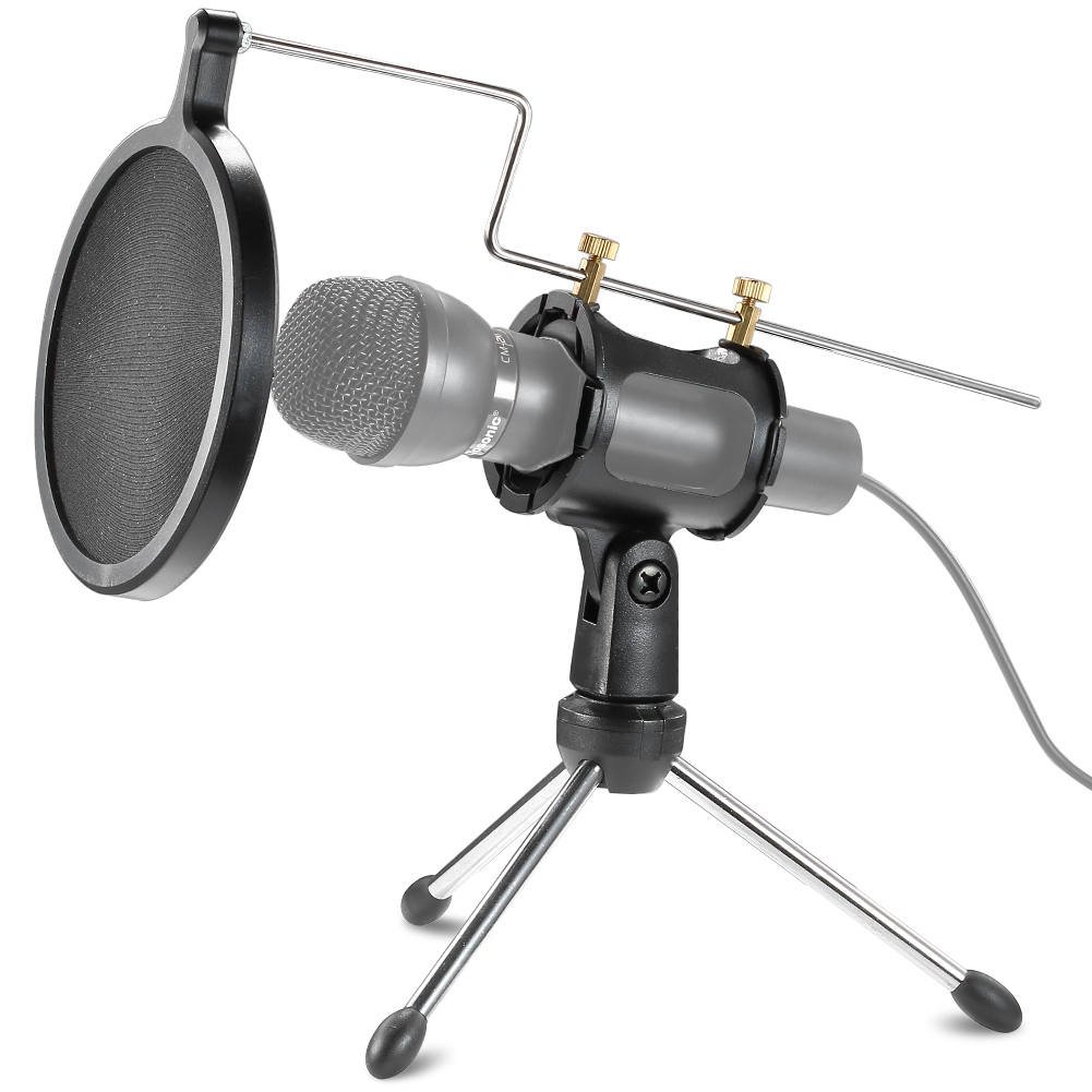 Mic Stand With Pop Filter : neewer microphone shock mount kit pop filter desktop tripod stand mic holder ebay ~ Hamham.info Haus und Dekorationen