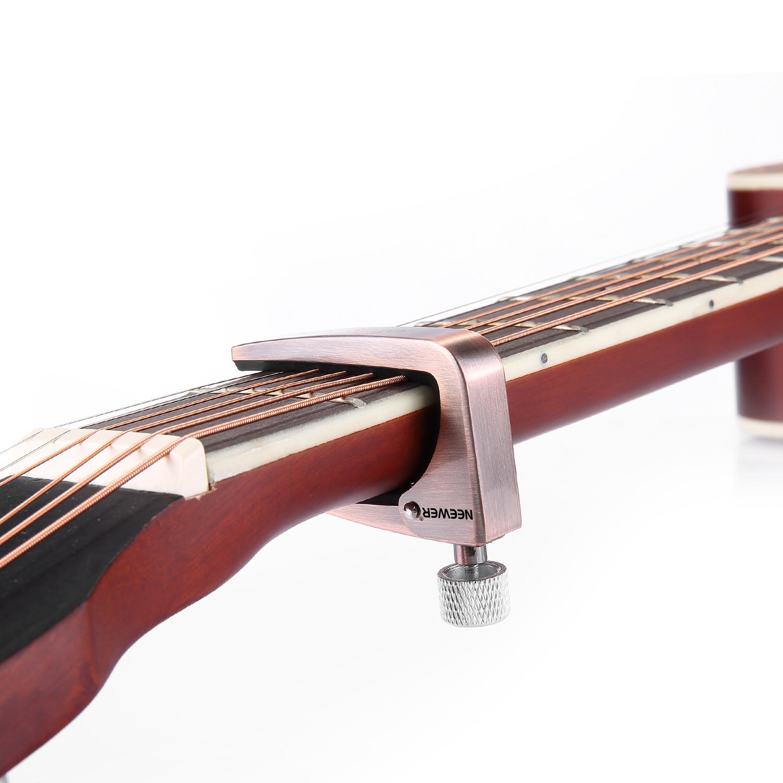 neewer adjustable guitar capo for 6 12 string acoustic electric guitar ebay. Black Bedroom Furniture Sets. Home Design Ideas