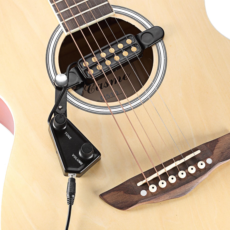 neewer easy to use 12 hole magnetic acoustic guitar soundhole pickup ebay. Black Bedroom Furniture Sets. Home Design Ideas
