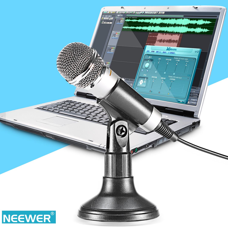 neewer 3 5mm microphone sur table micro de bureau pour pc ou smartphone ebay. Black Bedroom Furniture Sets. Home Design Ideas