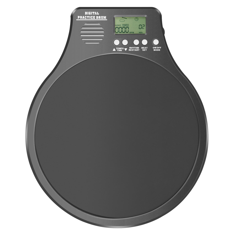 neewer 3 in 1 drum practice pad metronome drummer training pad black ebay. Black Bedroom Furniture Sets. Home Design Ideas