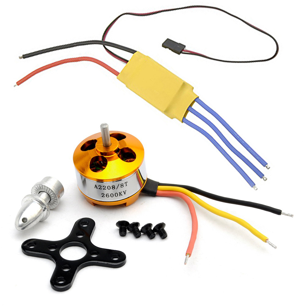 30a brushless motor speed controller a2208 8t 2600kv for Brushless motor speed control
