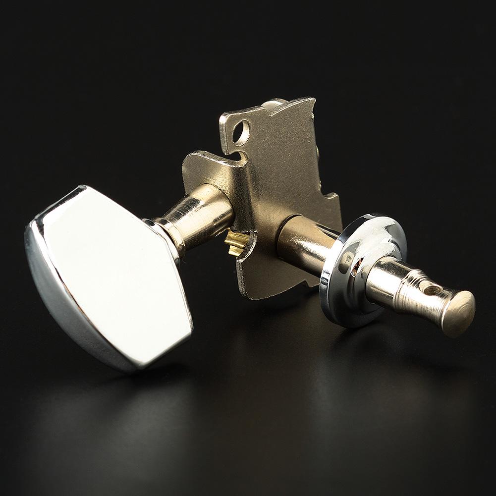 6pcs sliver acoustic guitar machine heads knobs tuners tuning peg ebay. Black Bedroom Furniture Sets. Home Design Ideas