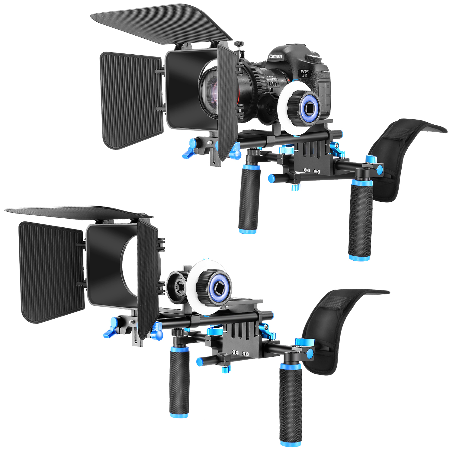 01dea8d99 Details about Neewer DSLR Rig Kit Shoulder Mount Rig with Follow Focus and Matte  Box f Camera