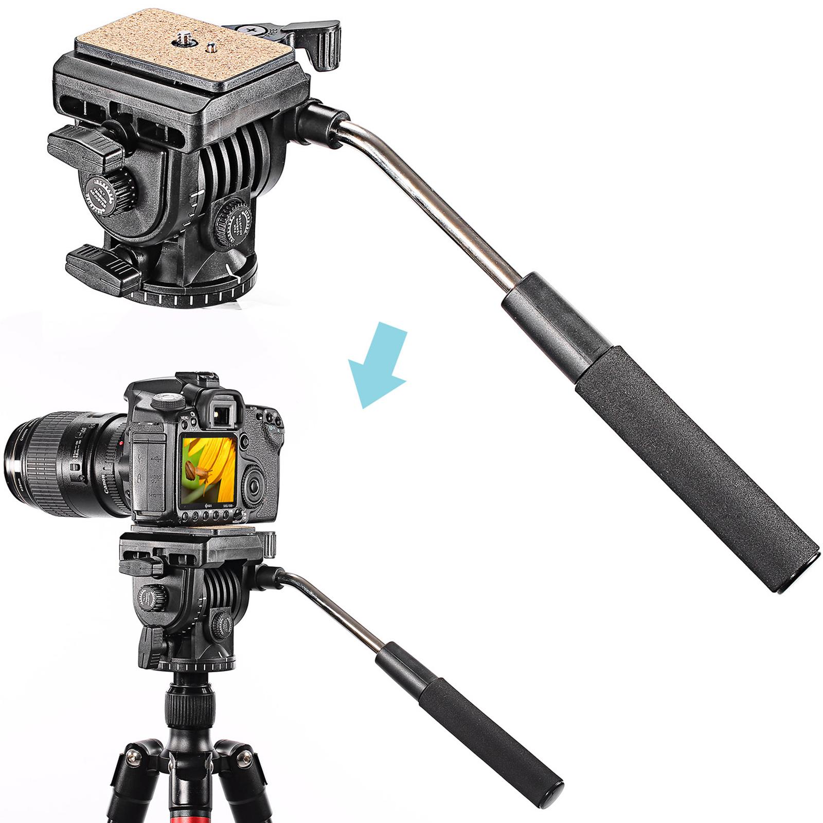 Fluid Video Head Camera Head for Camera with 1//4 Thread