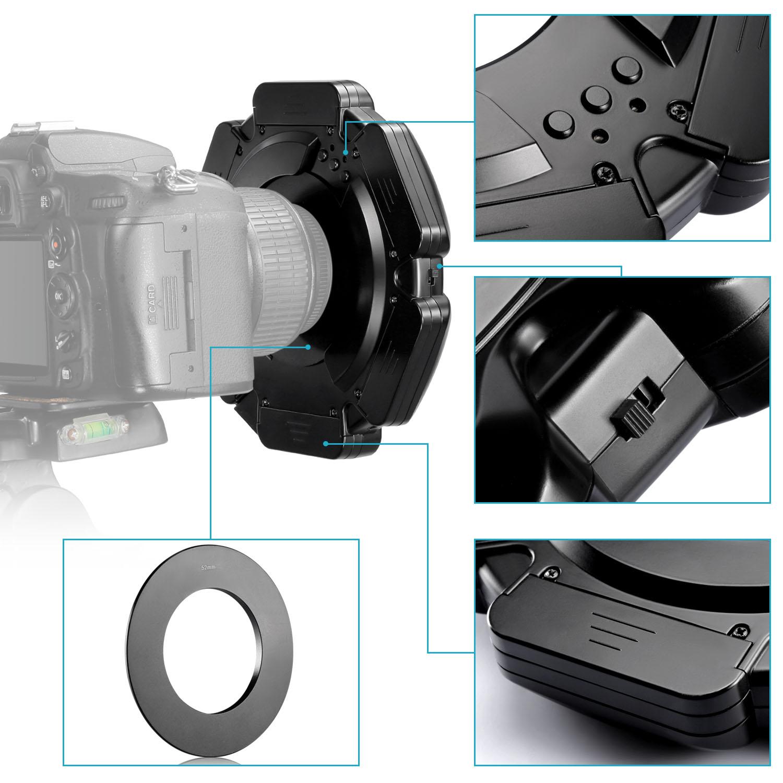 Neewer R 160 Pcs 5600k 10w Mini Led Macro Ring Light With 6 Adapter Rings