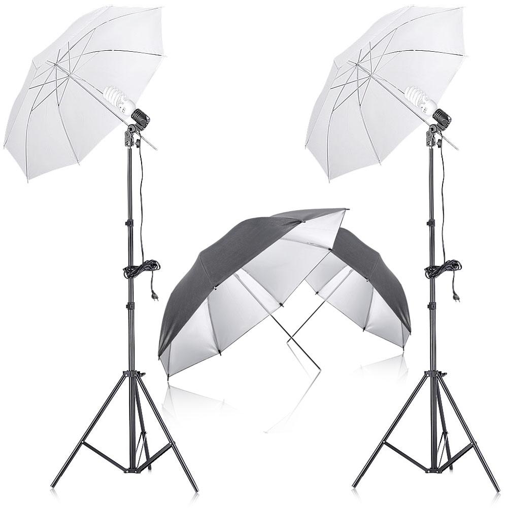 confezione da 2 soft box e ombrelli Supporto luce per video . ritratti Neewer Photo Studio in lega di alluminio di 2,1 m illuminazione fotografie