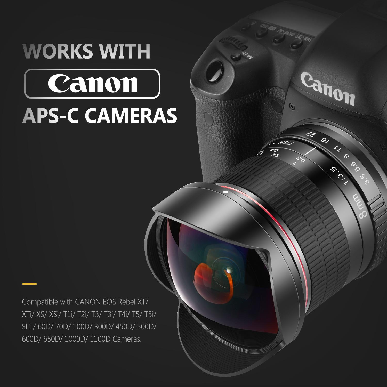 MEKE Meike 8mm f/3.5 Ultra Wide Angle Manual Focus Rectangle ...