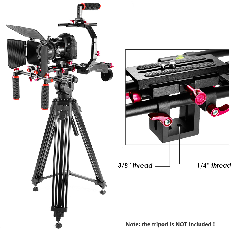 Follow Focus ecc Asta Matte Box Neewer Sistema per Produzioni Video: Staffa-C