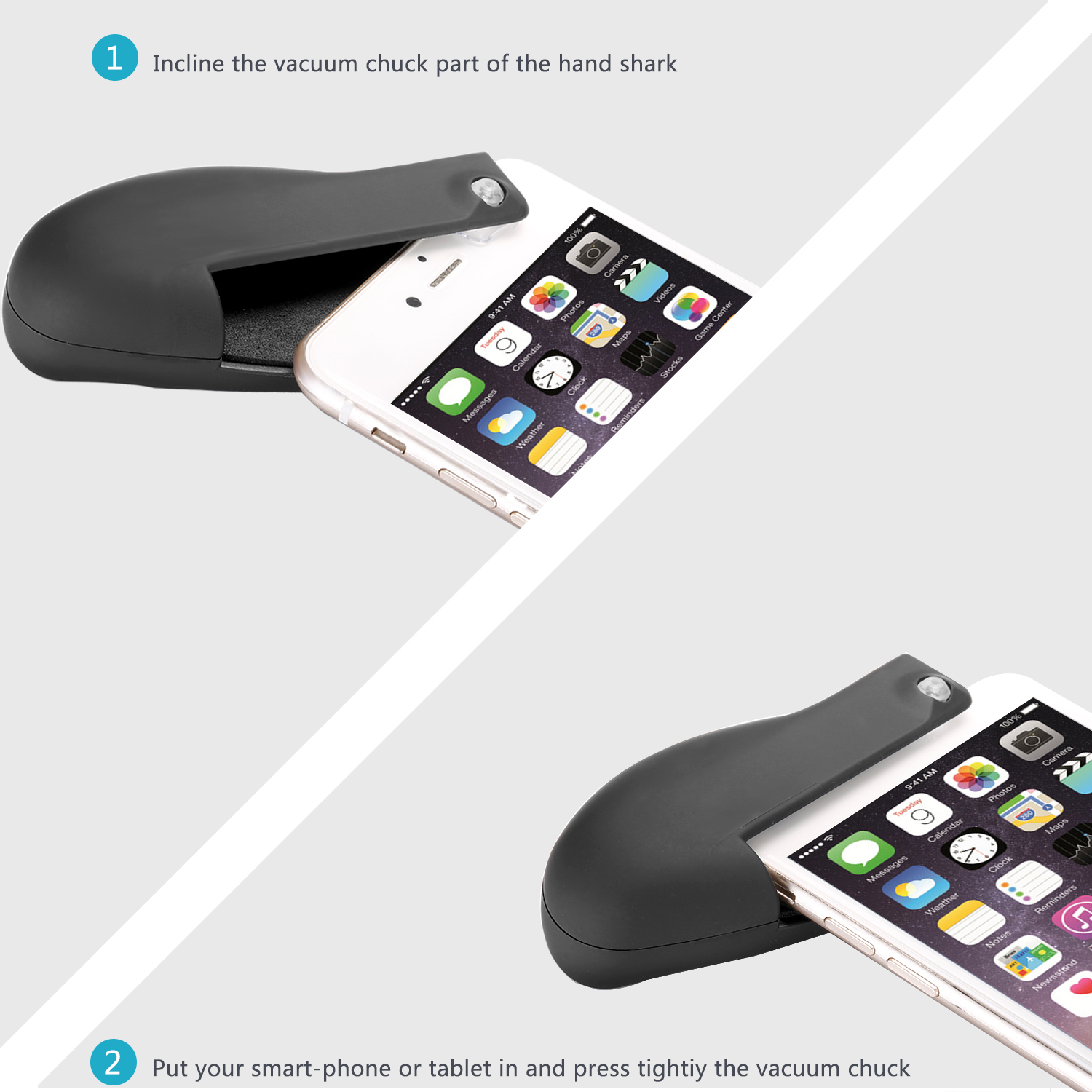 Neewer 6mm-10mm Mobile Phone and iPad Handle for DJI Spark iPhone X 8 7 Plus 7 6