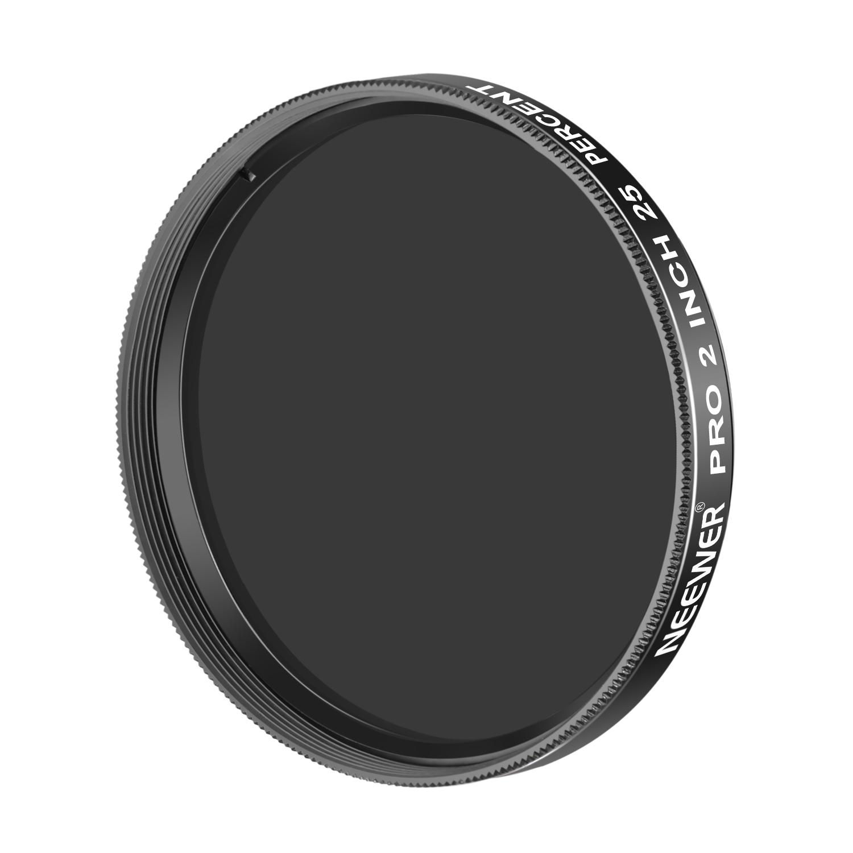 Neewer Pro 1.25 inch 13 Percent Transmission Neutral Density Moon Filter, Aluminum Frame Optical