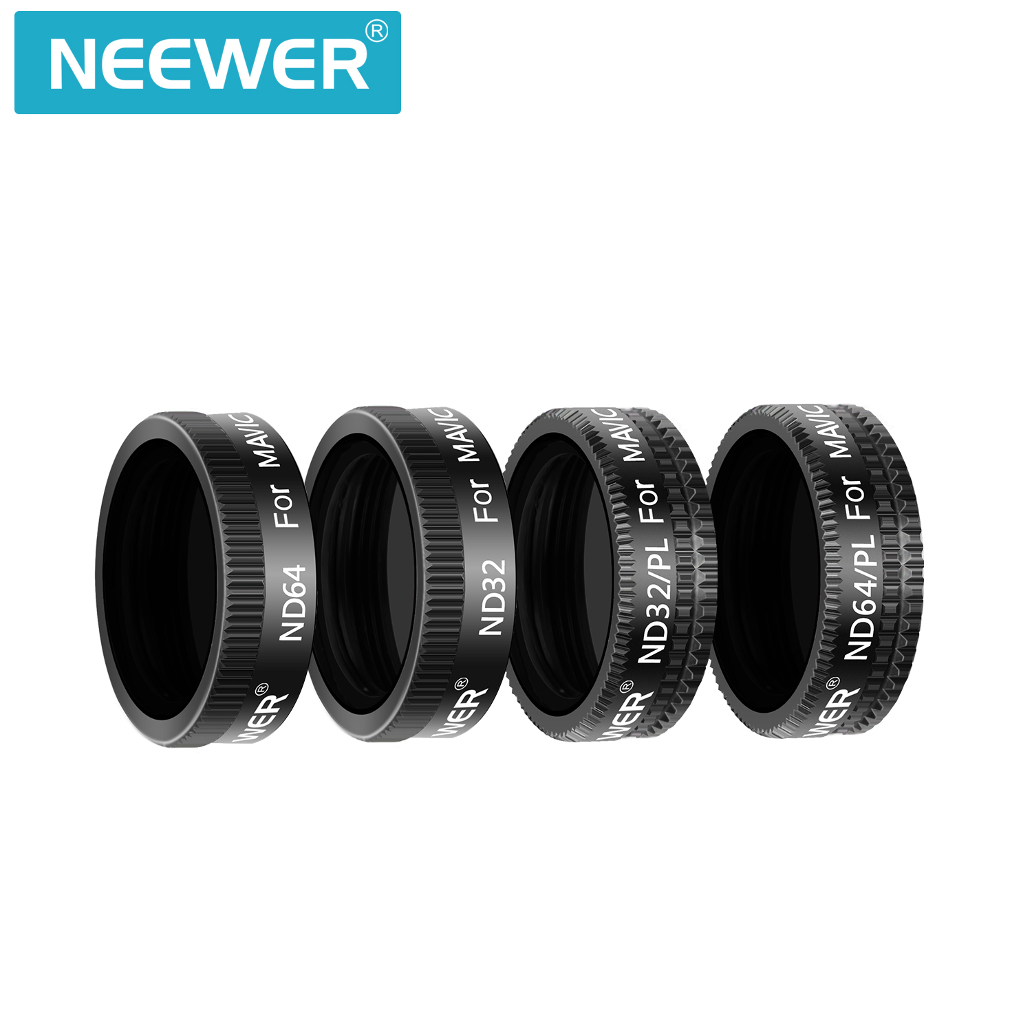 Includes Multi-Coated ND4 ND8 ND16 CPL ND32//PL ND64//PL Filters with Carrying Box for Outdoor Photography Black Neewer Magnetic Filter Set for DJI Osmo Pocket Camera Lens