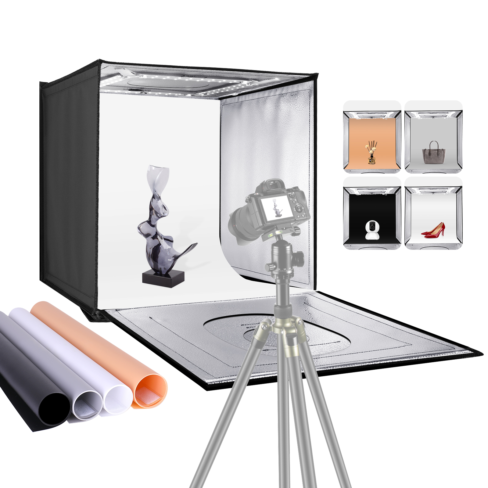 Details About Neewer Photo Studio Light Box 20 Shooting Tent Table Top Lighting Kit
