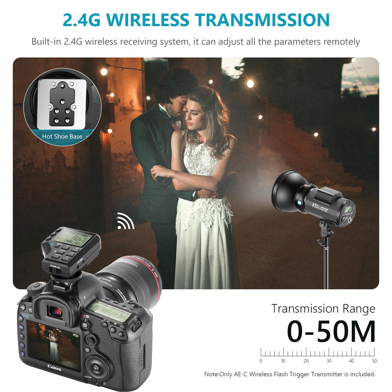 MagiDeal DC-04 4 Canali Ricevitore di Trigger Remoto Radio Wireless per Canon Nikon