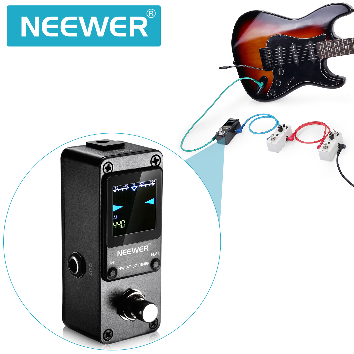 neewer nw 07 super quick and accurate chromatic guitar tuner pedal true bypass 699618404128 ebay. Black Bedroom Furniture Sets. Home Design Ideas